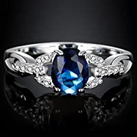 Charming Jewelry Sapphire Gemstone 925 Sterling Silver Ring Wedding Size 5-12 pimchanok (8)