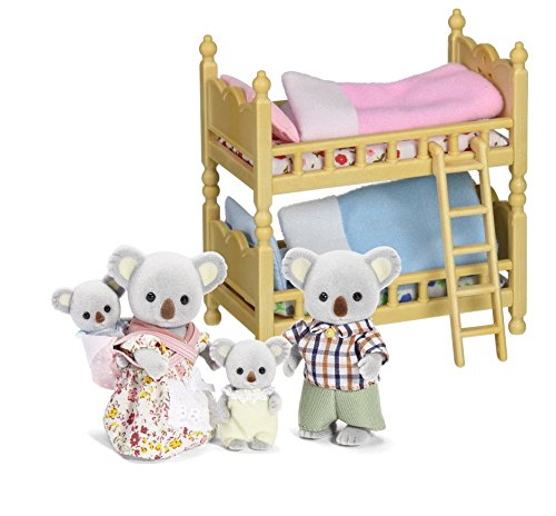 Maven Gifts: Calico Critters of Cloverleaf Corners Bundle - Outback Koala Family Set with Bunk Beds Furniture Set - Build Skills with Imaginative Play