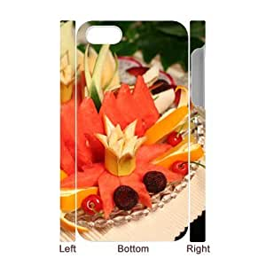Custom Cover Case with Hard Shell Protection for Iphone 4,4S 3D case with The delicious fruit lxa#212397