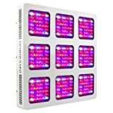 MAXSISUN M900 288x3W 12-band LED Grow Light – Dual Switches Full Spectrum with Secondary Optics Lens for Indoor Plants Veg and Bloom Review