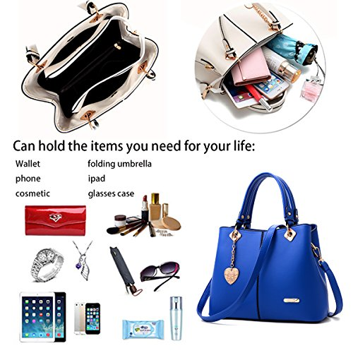 a tracolla Borsa bag shopping PU Blu borse moda borsa Ladies New a tracolla Sdinaz 2018 q8wCTT