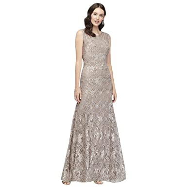 b6b10d600 Sequin Lace Mermaid Mother of Bride/Groom Dress with Illusion Detail Style  3198 at Amazon Women's Clothing store: