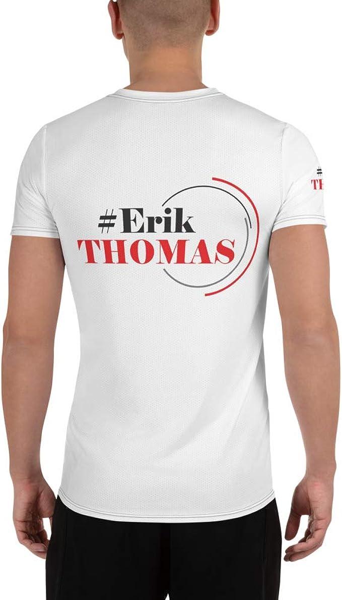 Expect Huge Erik Thomas Motivational Mens Athletic T-Shirt White