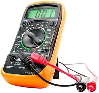 Digital Multimeter Ac Dc Voltmeter Amperemeter Ohmmeter Volt Tester Meter Xl 830l Baumarkt
