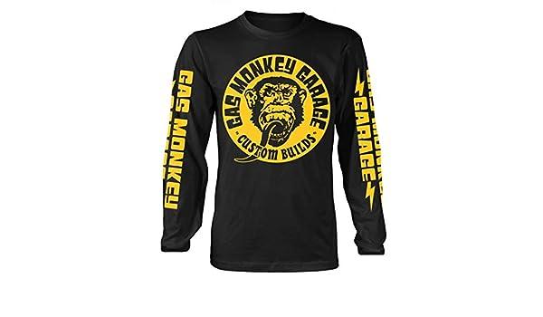 Gas Monkey Garage Big Yellow Logo (Negro) Camisa de Manga Larga ...