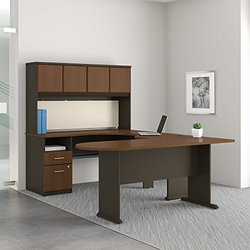 Series A U Shaped Desk with Hutch, Peninsula and Storage by Bush Business Furniture