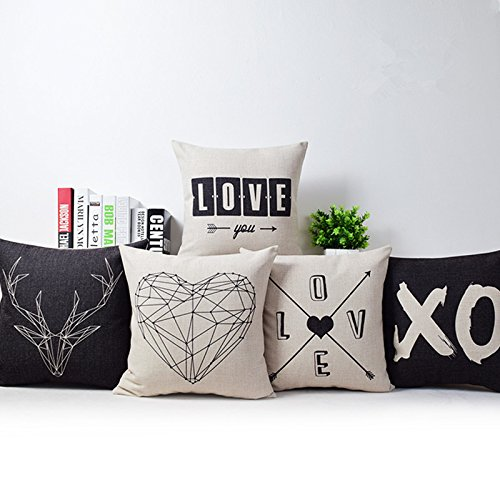 romantic-modern-simple-beige-love-star-pattern-pillow-case-deer-and-panda-chair-square-throw-pillow-