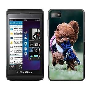 - toy poodle dog? - - Monedero pared Design Premium cuero del tir¨®n magn¨¦tico delgado del caso de la cubierta pata de ca FOR Blackberry Z10 Funny House