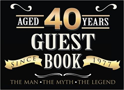 40th birthday guest book 40th forty fortieth birthday guest book