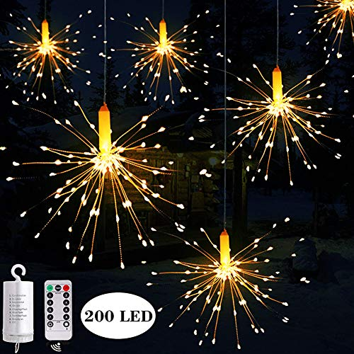 Hezbjiti 8 Modes 200LED Starburst Firework Copper Wire