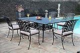 CBM Outdoor Cast Aluminum Patio Furniture 7 Pc Dining Set E1 CBM1290 Review