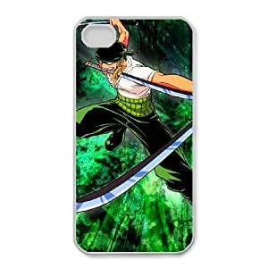 One Piece Zoro For iPhone 4,4S Case Cell phone Case Tnvz Plastic Durable Cover