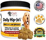 Best Joint Supplements For Dogs - iDash Pets Glucosamine for Dogs, Daily Hip-Jo's, Dog Review