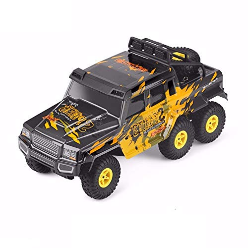 (Wapipey Rc Car 1:18 Six-Wheel Drive Climbing Car 2.4G Remote Control Six-Wheeled Big-Foot Off-Road Vehicle Hummer Toy Car Size 3817.518.5cm)