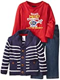 Boys' Rock Baby Boys' 3Piece Cardigan Set Helicopter