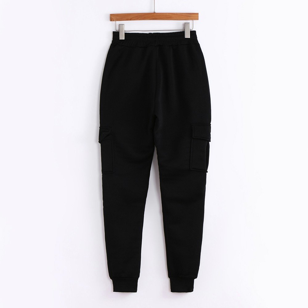 Spbamboo Mens Pants Slacks Casual Elastic Joggers Sport Baggy Pockets Trousers by Spbamboo (Image #3)