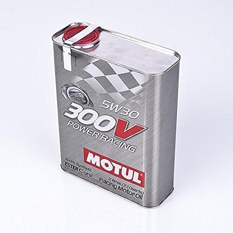 6 litros SAE 5 W30 Motul 300 V Potencia de carreras de aceite del motor: Amazon.es: Coche y moto