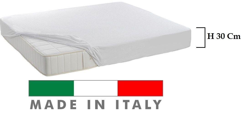 COPRIMATERASSO ALTEZZA 30 CM MADE IN ITALY IN COTONE SANITARIO CON ANGOLI LAVABILE DISPONIBILE NELLA MISURA SINGOLA E MATRIMONIALE - MATRIMONIALE MATRIMONIALE Il Gruppone