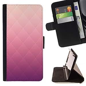 Patrón Rhomb rosa del color del gradiente- Modelo colorido cuero de la carpeta del tirón del caso cubierta piel Holster Funda protecció Para Sony Xperia Z2 D6502