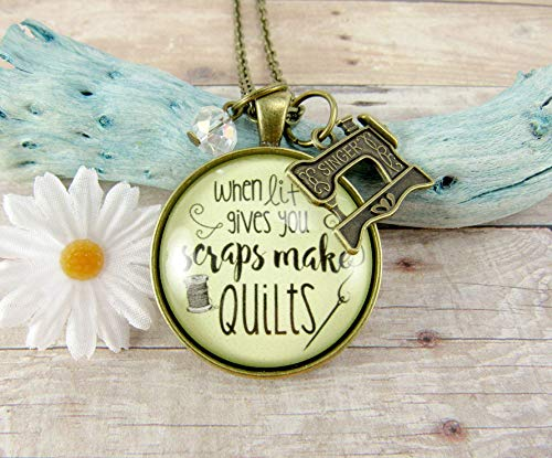 Quilters Necklace When Life Gives You Scraps Make Quilts