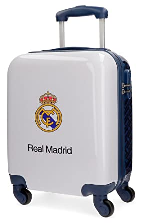 Real Madrid Lets Go Bagage cabine, 46 cm, 26 liters, Blanc (Blanco)