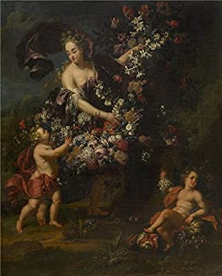 Oil Painting 'Gaspar Peeter Verbruggen II - Allegorical Figure With Flowers' Printing On Perfect Effect Canvas , 30x37 Inch / 76x95 Cm ,the Best Kids Room Gallery Art And Home Artwork And Gifts Is This High Quality Art Decorative Canvas Prints
