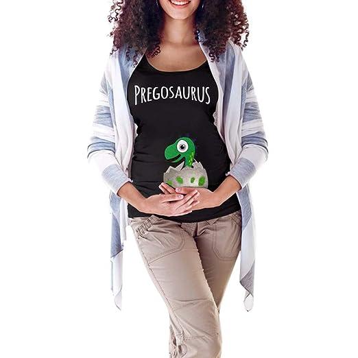 07aee149409ec Women Maternity Easter T-Shirt Mommy Letter Egg Dinosaur Tops Funny  Pregnancy Clothes Black
