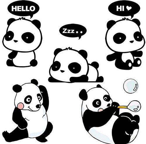 Funcoo Wall Sticker, 10 pcs Cute Panda Design Light Switch Decor Decals Wall Stickers (Style-1)
