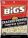 BIGS Cracked Pepper Pumpkin Seeds, 5-ounce Bags (Pack of 3)
