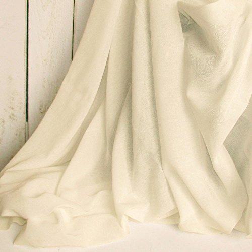 60 Yards Natural Unbleached Tobacco Cloth Natural Cotton Fabric Lightweight for Wedding Decor by JCS by JCS (Image #1)