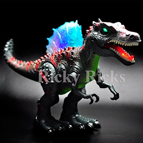 Walking Dinosaur Spinosaurus Kids Light Up Toy Figure Sounds Real Movement (Animatronic Dinosaur Costume Hire)