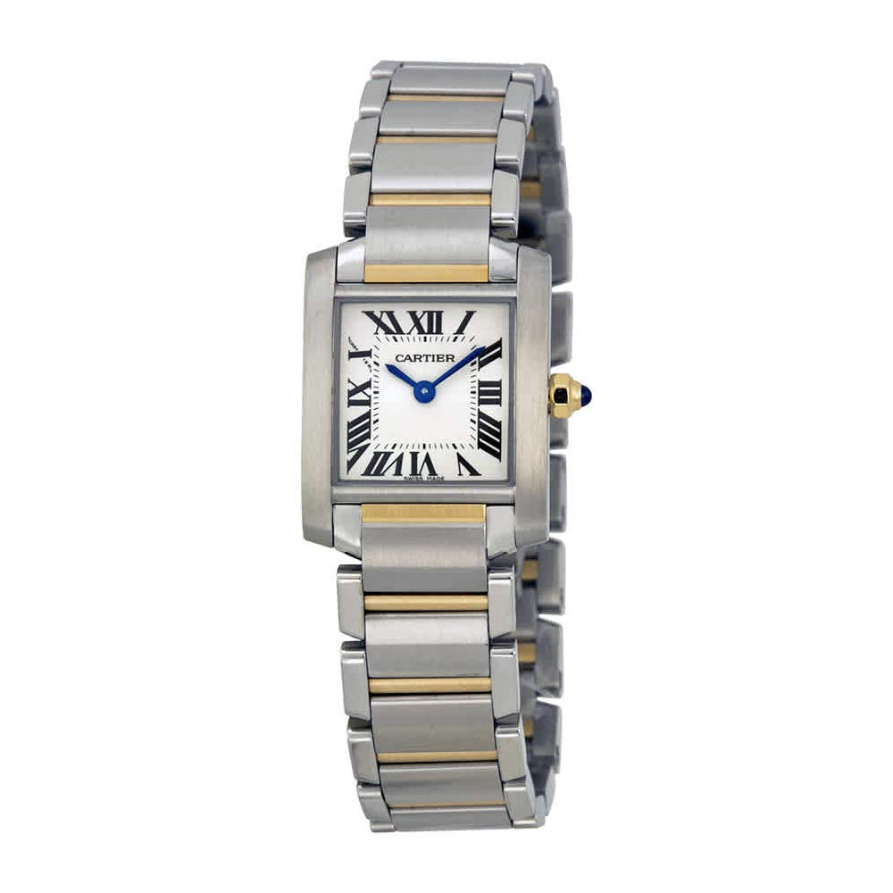4f04dd2eca2 Amazon.com  Cartier Women s W51007Q4 Tank Francaise Stainless Steel and 18K  Gold Watch  Cartier  Watches