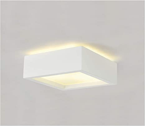 Slv Gipslamp Plastra 104 Beschilderbare Led Plafondverlichting Voor Binnenverlichting Vierkante Led Plafondlamp Voor Hal Badkamer Kinderkamer 2 X E27 Lampen Elk Max 25 W Eek D A Amazon Nl