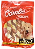 Pet Factory Rawhide Twist Rolls Wrapped with Chicken Meat Chews for Dogs (4 Pack), Medium/6''