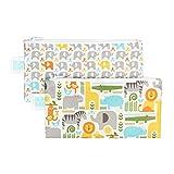 Bumkins Petit Collage Reusable Snack Bag Small 2 Pack, Safari Mix