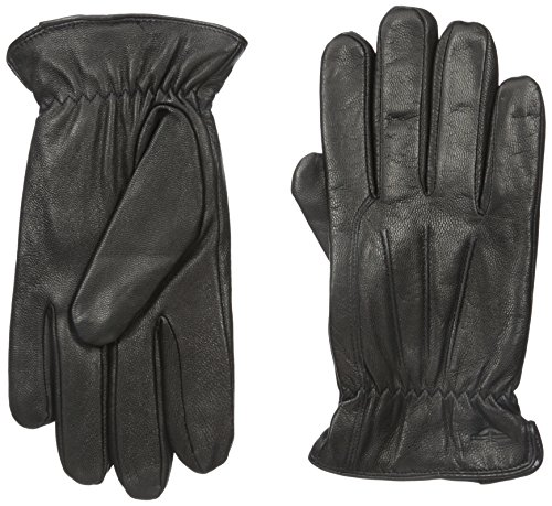 Dockers Men's 100% Leather Goat Skin Glove with faux shearling (Classic Shearling Gloves)