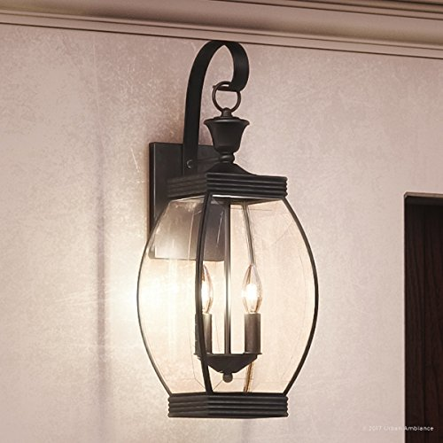 - Urban Ambiance Luxury Colonial Outdoor Wall Light, Large Size: 21