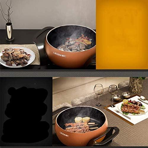 Grills électriques, Grill électrique Domicile Sans Fumée Intégré Multifonction Barbecue Machine Hot Pot Barbecue Intégré Hot Pot Double Contrôle De La Température