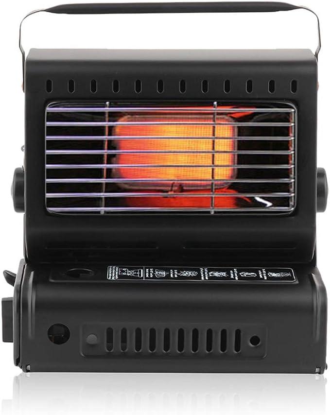 Estufa camping gas Gas Calentador compacto de 1,3 kW Mini portátil Portable para viajes camping exterior Radiador de calefacción para calefacción