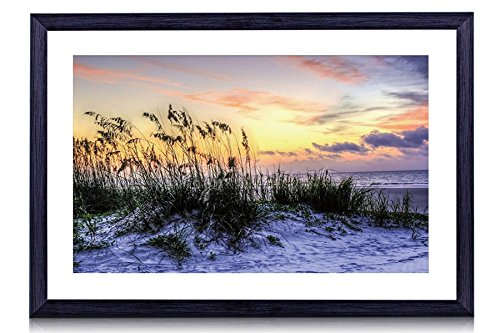 (Glorious Beach At Hilton Head South Carolina - Art Print Black Wood Framed Wall Art Picture For Home Decoration - 16