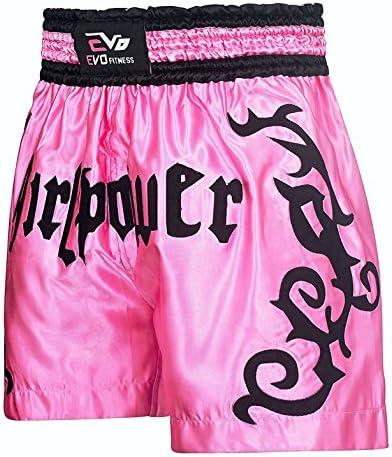 Evo Femme Muay Thaï Short Filles Mma Kick Boxing Arts Martiaux Combat Gear