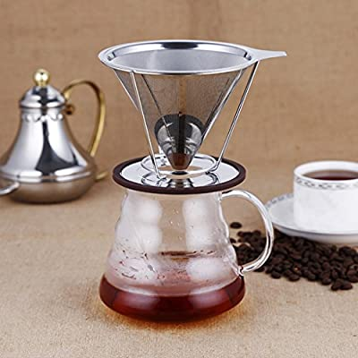 Wide Mouth Coffee Mesh Strainer Removable Filter Holder Percolator #2 125mm