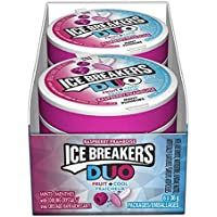 ICE BREAKERS DUO Fruit and Cool Raspberry Mints, 36g (Pack of 6 * 36g)