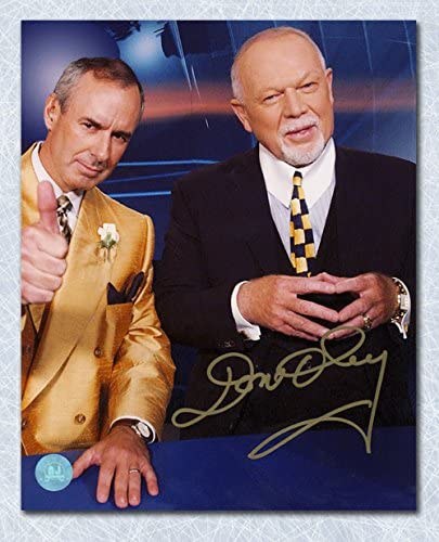 Don Cherry Hockey Night in Canada Autographed Booth with Ron McLean 8x10 Photo