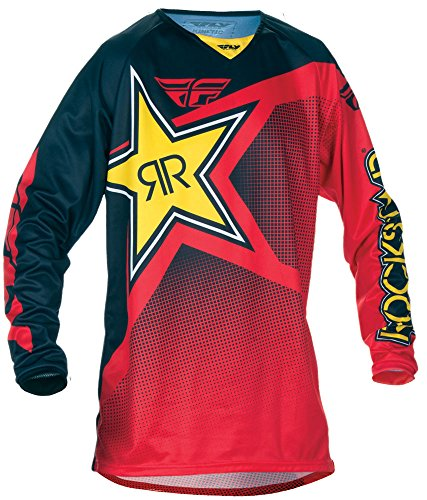 Fly Racing Kinetic Motocross/Mountainbike Jersey Rockstar rot-schwarz M