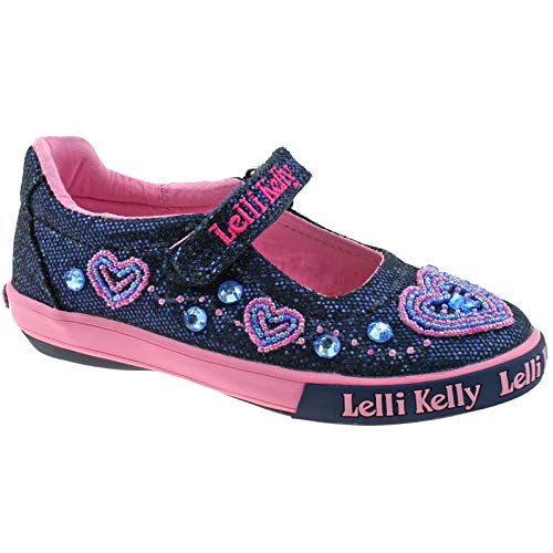 Lelli Glitter Shoes LK3020 Dolly GE01 7 Navy Ava Blue UK Kelly 25 rqrfw14