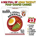 Raindrops Gummy Candy Noodles Takeout Box with 6