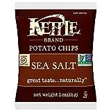 Kettle Brand Potato Chips, Sea Salt, Single-Serve 1 Ounce Bags (Pack of 72)