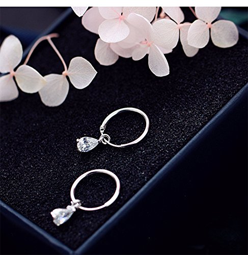 s925 Sterling Silver Hoop Earrings earings Dangler Eardrop Small Water Droplets Zirconium shihan guo Circular Ear Buckle Ear Hoop Small Women Girls