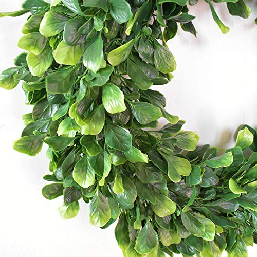 Artificial Green Leaves Wreath Farmhouse Wreath,Outdoor Green Wreath Front Door Wreath for Floral Home Wall Decor,Mothers Day